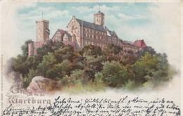 Gruss Vom Der Wartburg Germany Hold-to-Light, Window Light Up, C1890s Vintage Postcard - Hold To Light