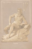 Neptune Hold To Light Appears As Fisherman With Oar And Pipe In Mouth, C1900s Vintage Postcard - Hold To Light