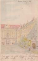 Wien Burghof Vienna Scene, Hold To Light Emperor Franz Josef Joseph Appears, C1890s Vintage Postcard - Hold To Light