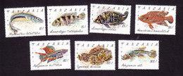 Tanzania, Scott #816-822, Mint Hinged, Fish, Issued 1992 - Tanzania (1964-...)