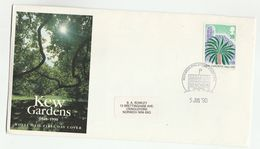 1990 Norwich GB FDC KEW GARDENS TREE  Stamps Cover - Trees