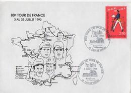 ENVELOPPE SOUVENIR  DU 80E TOUR FRANCE 1993 - PROLOGUE 3 JUILLET PUY DU FOU - Radsport