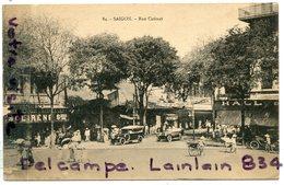 - 36 - COCHINCHINE - Saigon, Rue Catinat, Super Animation, Automobiles, Courante, écrite, 1923, TTBE, Scans.. - Viêt-Nam