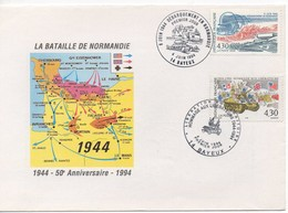 ENVELOPPE FDC  D-DAY OF NORMANDY - BAYEUX 04/06/94 - Seconda Guerra Mondiale