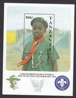 Tanzania, Scott #847, Mint Never Hinged, Scouts, Issued 1992 - Tanzania (1964-...)