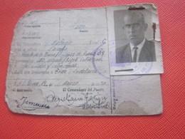 MILITARIA CARD MALAGA ESPANA ESPAGNE TARJETA PROVISIONAL DE IDENTIDAD GUARDIA CIVIL MONZO 1950 EL COMMANDANTE DEL PUESTA - Documentos