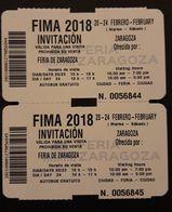 2 TICKETS FIMA 2018 FERIA DE ZARAGOZA - Tickets - Entradas