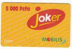 CAMEROON - Joker, MOBILIS Prepaid Card 5000 Fcfa, Used - Cameroon