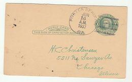 1937  Porter Springs Ga USA Postal STATIONERY CARD Cover Stamps - Postal Stationery