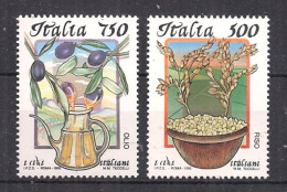 ITALIA  1995 CIBI ITALIANI SASS. 2140-2141 MNH XF - 6. 1946-.. Repubblica