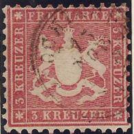 Württemberg 1863 3 Kr, Mi 26b, Farb Geprüft Heinrich BPP - Wurttemberg