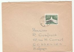 1959 Szprotawa POLAND COVER UNESCO  Stamps To Belgium Un United Nations - 1944-.... Republic