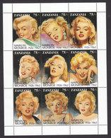 Tanzania, Scott #809, Mint Never Hinged, Marilyn Monroe, Issued 1992 - Tanzania (1964-...)