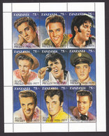 Tanzania, Scott #808, Mint Never Hinged, Elvis Presley, Issued 1992 - Tanzania (1964-...)