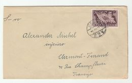 1948 Pecs HUNGARY Stamps COVER To France - Hungary