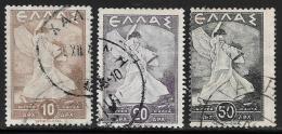 Greece, Scott # 462-4 Used Glory, 1945 - Greece