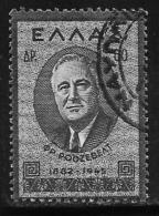 Greece, Scott # 470 Used Roosevelt, 1945 - Greece
