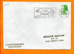 VAL D'OISE, Cormeilles En Parisis, Flamme SCOTEM N° 10034, 1er Prix Des Villes Fleuries - Storia Postale