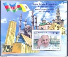 2016. Azerbaijan, The Vist Of Pope Francis In Azerbaijan, S/s, Mint/** - Azerbaïjan