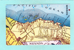 Small Map Post Card Of Nevada,United States,Map,K2. - Verenigde Staten
