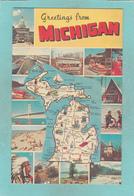 Small Map Post Card Of Lake Michigan,MI-Michigan,United States,Map,K2. - Etats-Unis