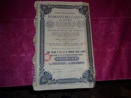 ROMANO BELGIANA DE PETROL (roumano Belge De Petrole) Titre De 5 Actions De 250 Lei - Hist. Wertpapiere - Nonvaleurs