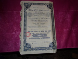 ROMANO BELGIANA DE PETROL (roumano Belge De Petrole) Titre De 5 Actions De 250 Lei - Shareholdings