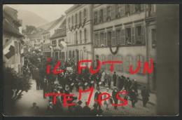 68 SAINT MARIE AUX MINES - 14 JUILLET 1919 Après La Libération De L'ALSACE - CPA PHOTO - RARE !! - Sainte-Marie-aux-Mines