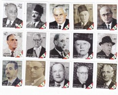 Lebanon-Liban New Issue 2016,Ann Independence,Heroes Of Independence 15 Stamps Cpl.set MNH- Limited- SKRILL PAY ONLY - Lebanon