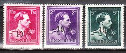 724N/P**  Leopold III Col Ouvert Surchargé -10% - AUBEL - Série Complète - MNH** - LOOK!!!! - 1946 -10%