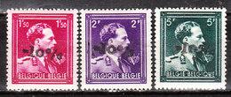724N/P**  Leopold III Col Ouvert Surchargé -10% - AULNOIS - Série Complète - MNH** - LOOK!!!! - 1946 -10%