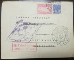 O) 1930 BRAZIL, GRAF ZEPPELIN, 10.ooo REIS ZEPPELIN-BRAZIL EUROPA, FIRST COMMERCIAL FLIGHT-MERCURY, FIRST PAN AMERICA RO - Brazil