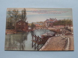 Sport Nautique, Le Canal Du Moulin Et Le Pont De Soissons ( 33 - Suzaine ) Anno 19?? ( Voir Photo Svp ) ! - Sedan