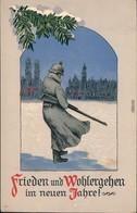 Neujahr - Militaria WK1 Frieden Und Wohlergehen Im Neuen Jahr 1917  - War 1914-18