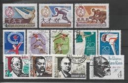 RUSSIE / URSS Année 1965 / Plaquette De 12 Timbres Oblitérés ( 2999 DANSE Neuf**) 2996/2998 Complete !! - Oblitérés