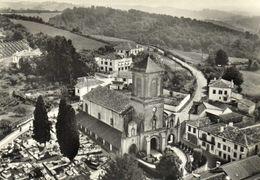 CPSM Grand Format EN AVION AU DESSUS DE ... LABASTIDE CLAIRENCE (Basses Pyr) L' Eglise Cimetière Et Village Recto Verso - France