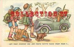 ☺♦♦ HUMOUR < AUTO STOPPEUR Par GOUGEON - CAMPEUR PARTANT En VACANCES - Humour