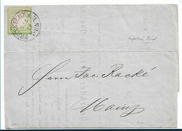 BRS246 / Michel Nr. 7 (gute Prägung) Auf Circular 1872, Frankfurt Am Main Nach Mainz - Deutschland