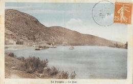 Le Pouzin (Ardèche) - Le Quai - Edition Vve Paul Mounier - Carte ARGRA Colorisée - Le Pouzin