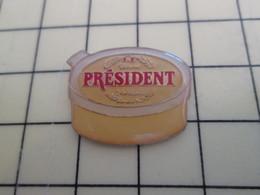 Pin410d Pin's Pins / Rare Et De Belle Qualité / ALIMENTATION : BEURRE PRESIDENT BARQUETTE - Alimentation