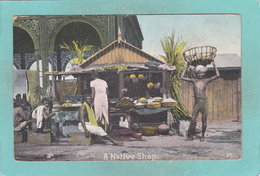 Small Post Card Of A Native Shop,?,K32. - World