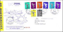(0293) Mayotte Série Courante Complète Recommandée 31/07/04 - Mayotte (1892-2011)