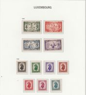 LUSSEMBURGO 1945, Lotto Di 2 Serie Cpl. 11v. Mi.343/46+388/94 - Yv.356/59+360/66 Nuovi** - Luxembourg