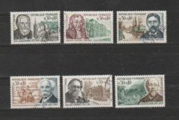 FRANCE / 1966 / Y&T N° 1470/1475 : Célébrités (6 TP) - Choisis - Tous Cachet Rond - Oblitérés