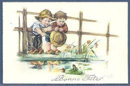 CPA - ENFANTS ET GRENOUILLE -BONNE FÊTE - Ilustradores & Fotógrafos