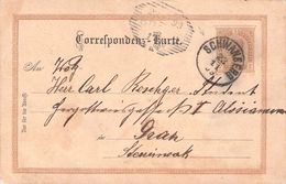 AUSTRIA - CORRESPONDENZ-KARTE 1899 SCHWANBERG -> GRAZ - Stamped Stationery