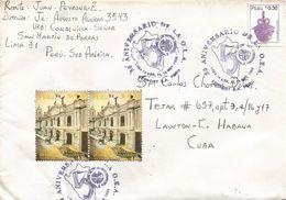 Peru 1998 Lima Postal Service Handstamp Organisation Of Amercican States Pottery Drum Cover - Peru