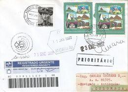 Brasil Brazil 2007 Fortaleza Archipel Noronha Handstamp 60 Years Road Transport Organisation Registered Cover - Brieven En Documenten