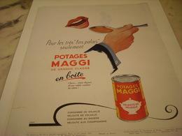 ANCIENNE PUBLICITE POTAGE  DE  MAGGI 1952 - Posters