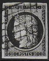 Cérès 20 C - N° 3 - Cote : 60 € - 1849-1850 Cérès